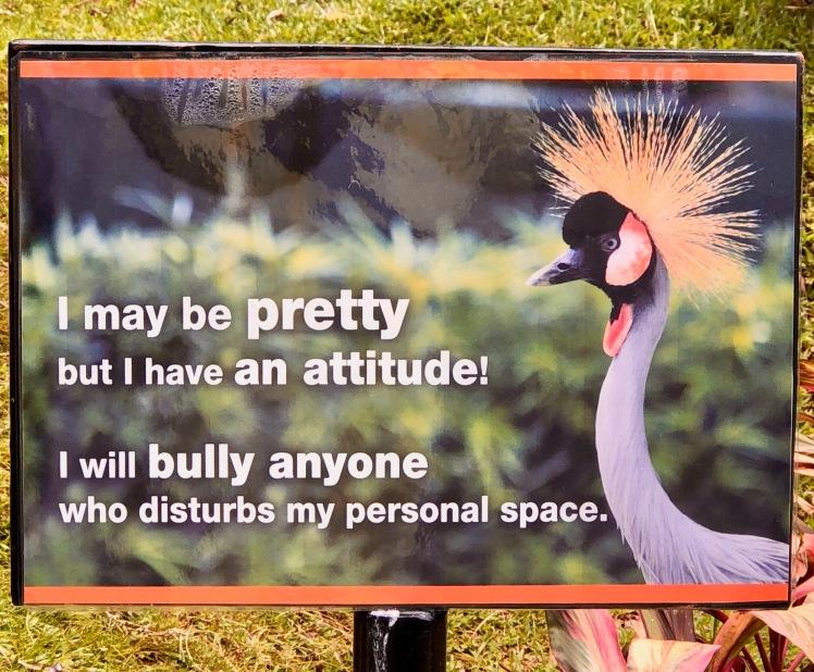 Sign in KL's Bird Park