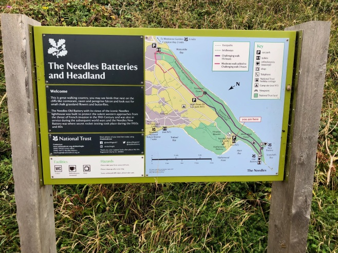 Needles battery sign